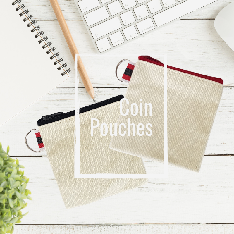 canvas coin pouches