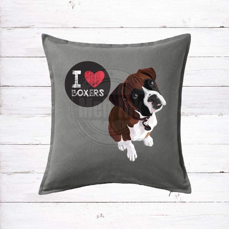 boxer dog cushion
