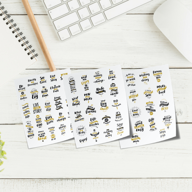 motivational quotes planner stickers