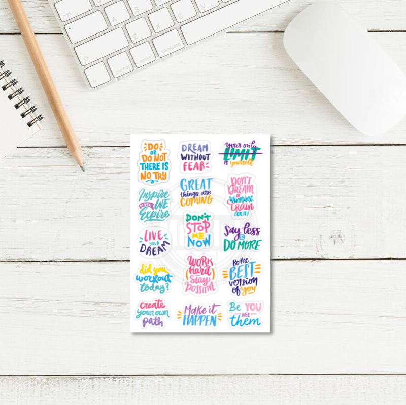 daily motivational quote stickers