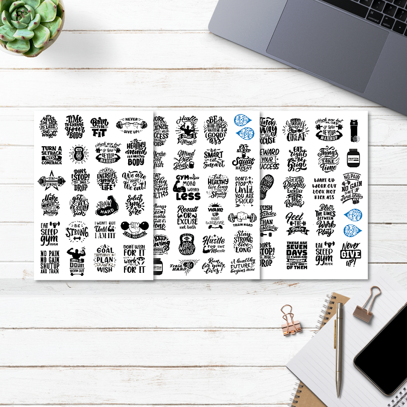 gym fitness planner stickers